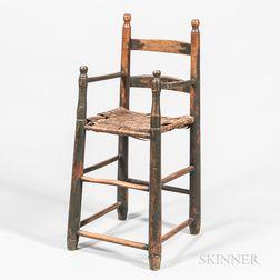 Slat-back High Chair