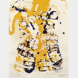Arman (American/French, 1928-2005)      Le masque à gaz