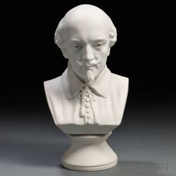 Ott & Brewer Parian Bust of Shakespeare