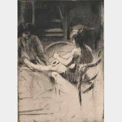 Jacques Villon (French, 1875-1963)      Le pédicure