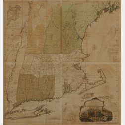 New England. Braddock Mead (c. 1688-1757) and Thomas Jefferys (1695-1771)   A Map of the Most Inhabited Part of New England