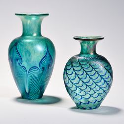 Two Robert Held Art Glass Vases