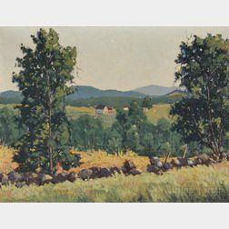 Loring Wilkins Coleman (American, 1918-2015)      Distant Hills