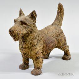 Cast Iron Scottish Terrier Doorstop