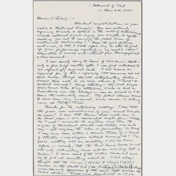 Lovecraft, H.P. (1890-1937) Autograph Letter Signed, 28 December 1935.