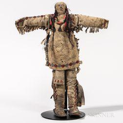 Cheyenne Beaded Hide Doll
