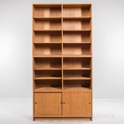 Borge Mogensen for Karl Andersson & Soner Oresund Stackable Oak Cabinet and Two Bookcases