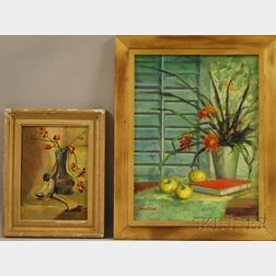 American School, 20th Century      Lot of Two Still Lifes:  Late Summer Afternoon