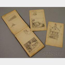 Charles Wesley Sanderson (American, 1835 - 1905)      Sketchbook of Scenes, Buildings, and Architectural Elements