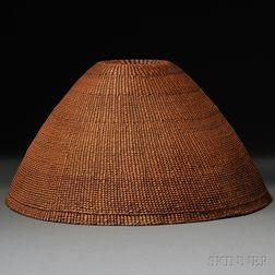 Nuu-Chah-Nulth (Nootka) Twined Basketry Hat