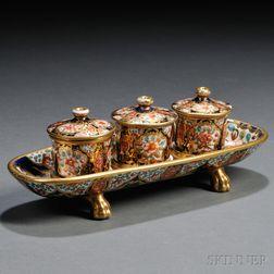 Spode Porcelain Imari Pattern Inkstand