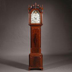 Samuel Harley Mahogany and Oak Tall Case Clock