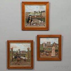 Set of Three Modern Shadow Box Collages
