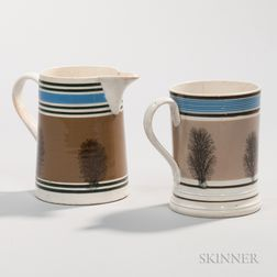 Whiteware Mocha Jug and Mug