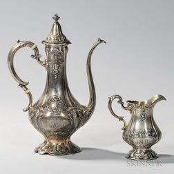 Reed & Barton Sterling Silver Coffeepot and Creamer