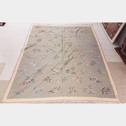 Large Floral Dhurrie Carpet