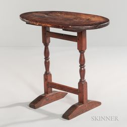 Small Oval-top Shoe-foot Table