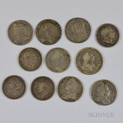 Ten British Shillings