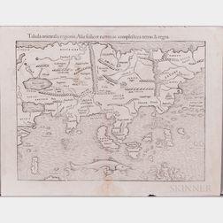 Asia. Sebastian Munster (1489-1552) Tabula Orientalis Regionis, Asiae Scilicet Extremas Complectens Terras & Regna.