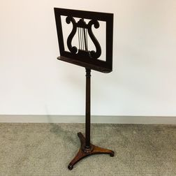 Palmer Manufacturing Co. Classical-style Mahogany Music Stand