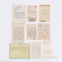 Ten Letters from Canadian, English, and European Authors/Poets.