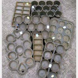 Seven Cast Iron Baking Pans
