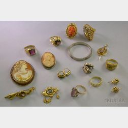 Group of Gold and Silver Estate Jewelry