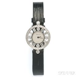 Lady's Platinum and Diamond Wristwatch, Paloma Picasso, Tiffany & Co.