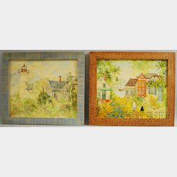 Lot of Four Framed Works by Jeanne Davies (American, b. 1936)