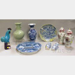 Thirteen Pieces of Modern Asian Porcelain