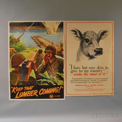 Three U.S. WWII Lithograph Production Posters