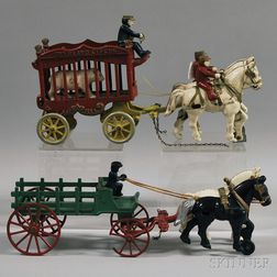 Two Cast Iron Horse-drawn Vehicles