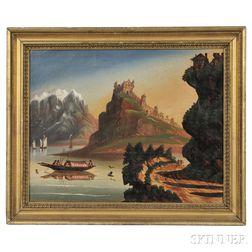 Thomas Chambers (New York/England, 1808-1869)      No. 10 View on the Rhine