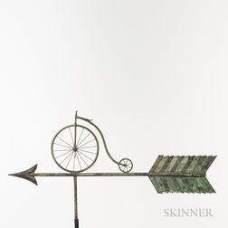 Copper Bicycle Weathervane