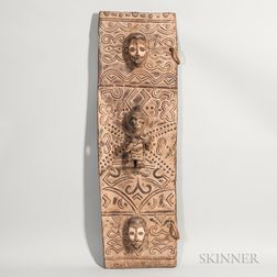 Baule-style Carved Wood Door