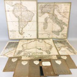 Twelve Mid-19th Century German Maps
