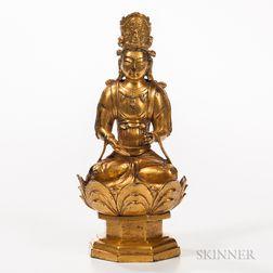 Gilt-bronze Statue of Bodhisattva