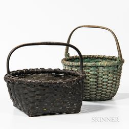 Two Painted Splint Baskets