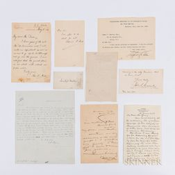 Ten Letters and Autographs of 19th Century American Literary Figures.