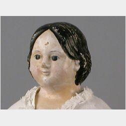 Large Patent Head Greiner Papier-mache Doll