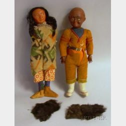 Two Indian Character Dolls