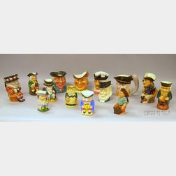Fourteen Assorted Ceramic Toby Jugs and Character Jugs