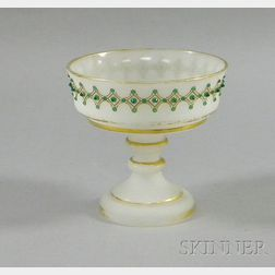 Jeweled Clambroth Opaline Footed Dish