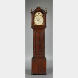 Federal Mahogany Tall Clock by Abel Hutchins