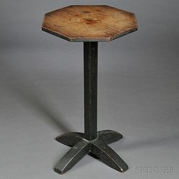 Black-painted Pine Candlestand