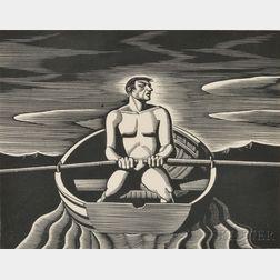 Rockwell Kent (American, 1882-1971)      Oarsman