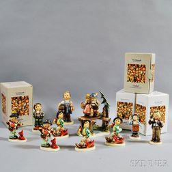 Ten Ceramic Hummel Figures