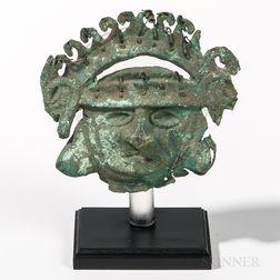 Early Mochica Copper Mask