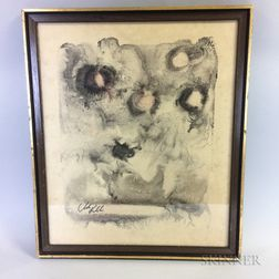 Framed Andre Kutchinski (Polish, b. 1937) Abstract Lithograph