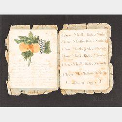 Clara Marsh's Schoolwork Book